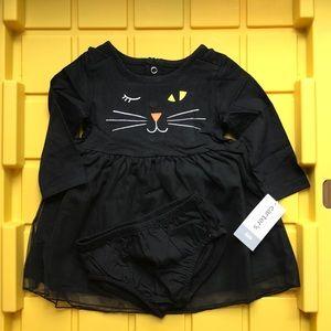 Carters-  Halloween Black Cat Tutu Dress